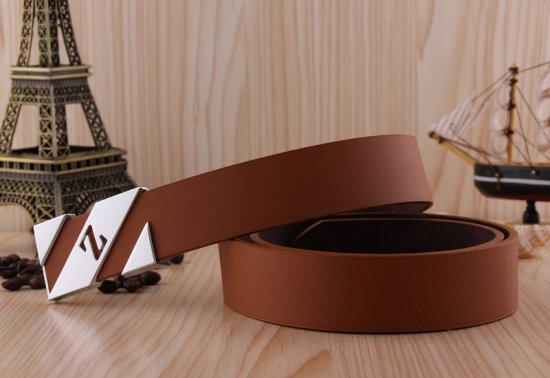 シンプル Zロゴバックル メンズ レディース  レザー ベルト