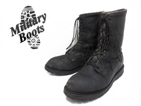 90's BIGサイズ ミリタリーブーツ 軍靴 ブラック系 メンズ US12W/30cm f-3183 古着