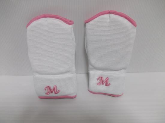 M-WORLD NEWスーパー拳サポーター(手首パット付き) 白/ピンク