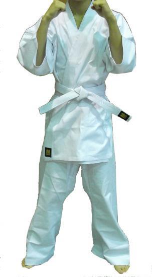 MーWORLD 高級フルコンタクト空手衣 純白 5号【在庫限り 特別価格!!】