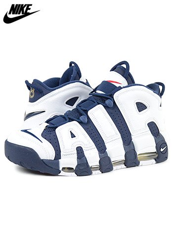 NIKE - AIR MORE UPTEMPO OLYMPIC (WHITE×NAVY-METALLIC GOLD)