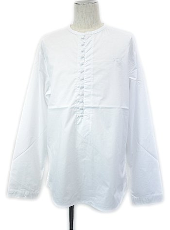 DIEM - MENS KNIT HENLEY GQ (WHITE)