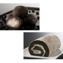 銀不老大福&ロールケーキセット/城西館【くどすぎない甘さが嬉しい】