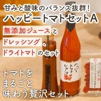 ハッピートマトセットA【無添加ジュースとドレッシング、ドライトマトのセット】