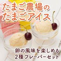 たまご農場のたまごアイス【卵の風味を楽しめる2種フレーバーセット】