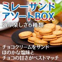 ミレーサンドアソートBOX【ミレーのほのかな塩味とチョコの甘さがベストマッチ】
