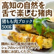 猪もも肉ブロック 500g【シェフ考案のレシピ付きセット】の商品画像