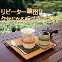 【極上茶プリン】<br>Premium茶畑プリン食べ比べセットと厳選茶「霧の薫」TBセット
