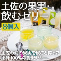 土佐の果実・飲むゼリー8個入【文旦・ゆず・ポンカン・小夏】