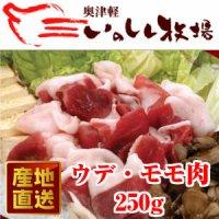 送料無料 奥津軽 いのしし肉 ウデ・モモ肉 250g #元気いただきますプロジェク ト(ジビエ)