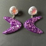 Wicked Witchcraft Wicked boomerang earrings Purple