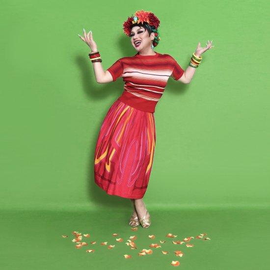 Psycho Apparel Kustom Paint Skirt in Red