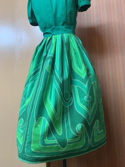 Psycho Apparel Kustom Paint Skirt in Green