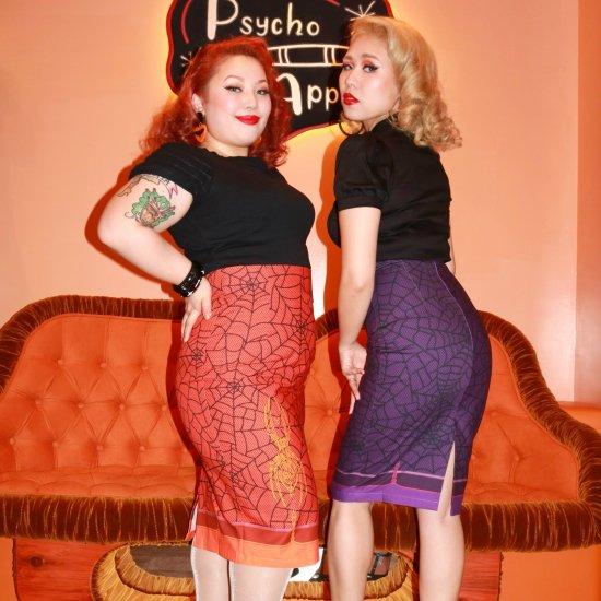 Psycho Apparel Twilight Orange Skirt