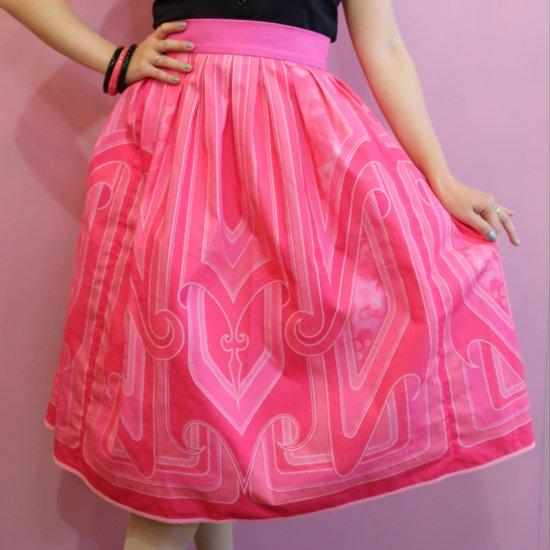 Psycho Apparel Kustom Paint Skirt in Pink