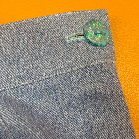 Psycho Apparel Wendy Denim Trousers in Pastel Blue