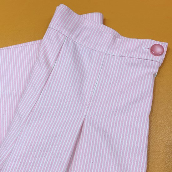 Psycho Apparel Wendy Denim Trousers in Pink Hickory