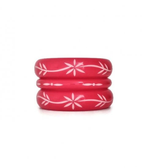 <img class='new_mark_img1' src='https://img.shop-pro.jp/img/new/icons1.gif' style='border:none;display:inline;margin:0px;padding:0px;width:auto;' />Los Flamingo Wide Red Flower Bangle