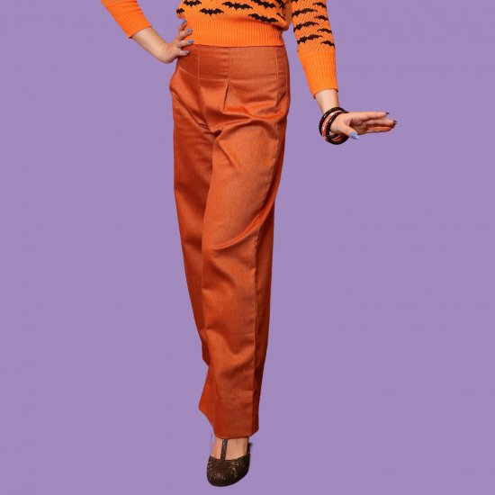 <img class='new_mark_img1' src='https://img.shop-pro.jp/img/new/icons1.gif' style='border:none;display:inline;margin:0px;padding:0px;width:auto;' />Psycho Apparel Wendy Denim Trousers in Pumpkin