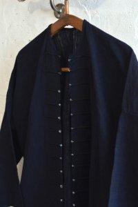 【ヤオ族 ビンテージ ヘンプエスニックシャツ ブラックインディゴ】