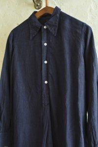 【1940's イタリア製 スリーピングロングシャツ 後染めインディゴカラー】