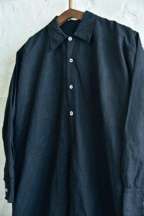 【1940's イタリア製 スリーピングロングシャツ 後染めブラック】