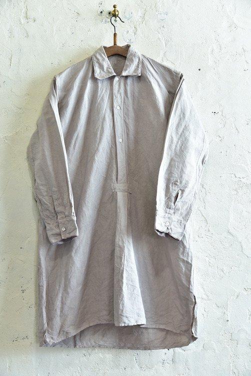 【1940's イタリア製 スリーピングロングシャツ 後染めグレー】