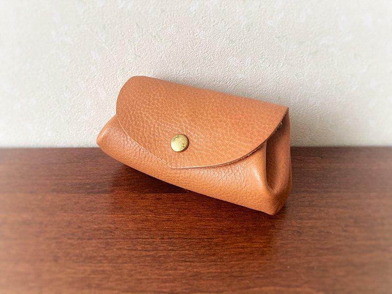 【受注製作(納期約2週間)】イタリアンレザー*コロコロ財布 「fave」M(スカーレット)