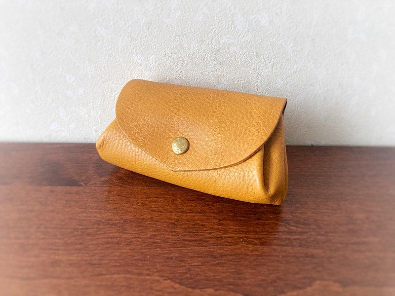 【受注製作(納期約2週間)】イタリアンレザー*コロコロ財布 「fave」M (ミモザ)
