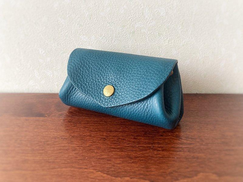 【受注製作(納期約2週間)】イタリアンレザー*コロコロ財布 「fave」M (フェルメールブルー)