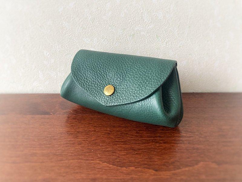 【受注製作(納期約2週間)】イタリアンレザー*コロコロ財布 「fave」M (ターコイズ)