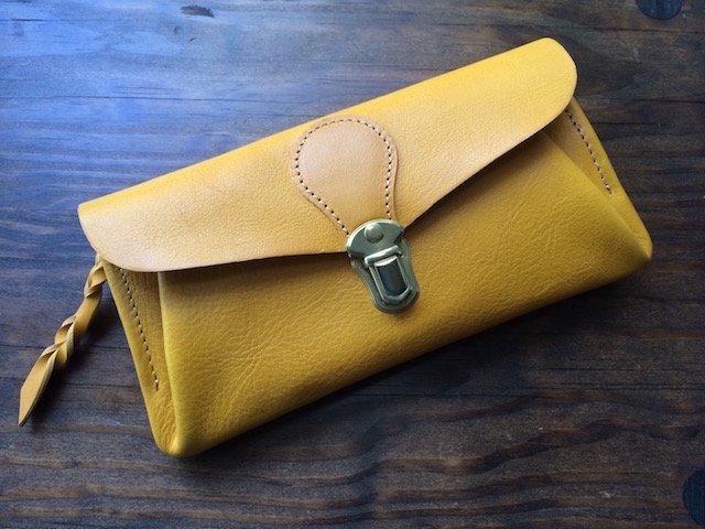 【受注製作(納期約1ヶ月半)】イタリアンレザー*長財布 「series-envelope」(ミモザ)