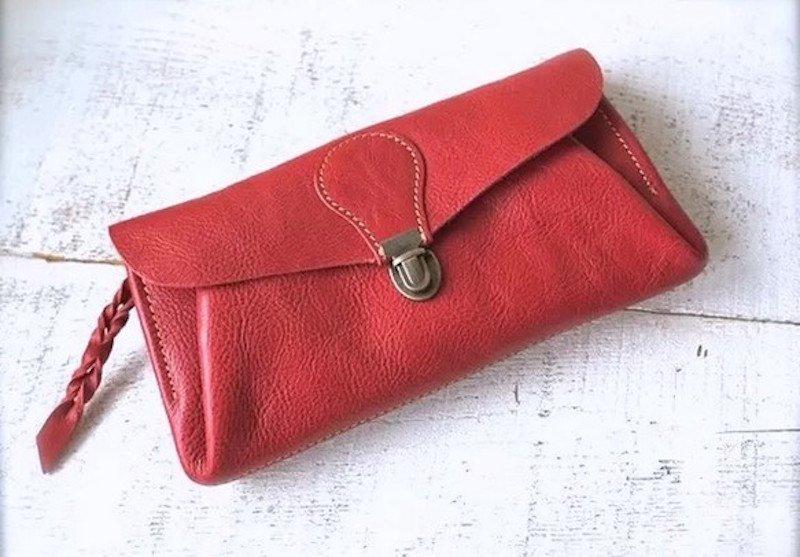 【受注製作(納期約2週間)】長財布 「series-envelope」ローズ