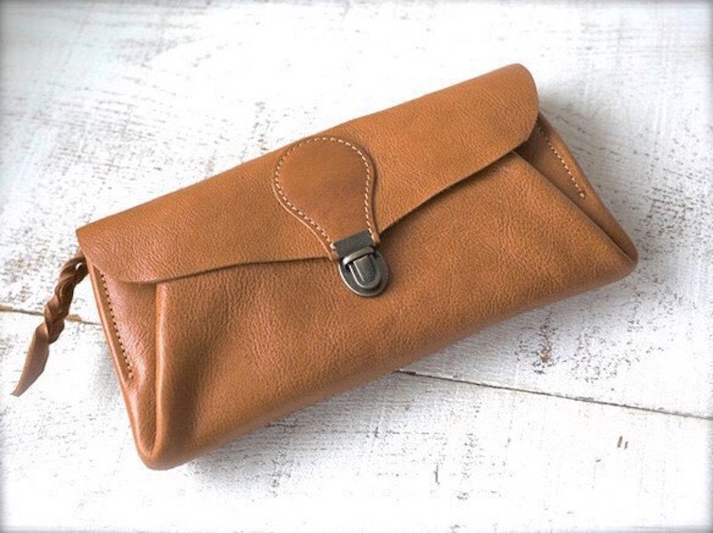 【受注製作(納期約2週間)】長財布 「series-envelope」キャメル
