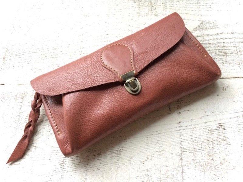 【受注製作(納期約2週間)】長財布 「series-envelope」シナモン