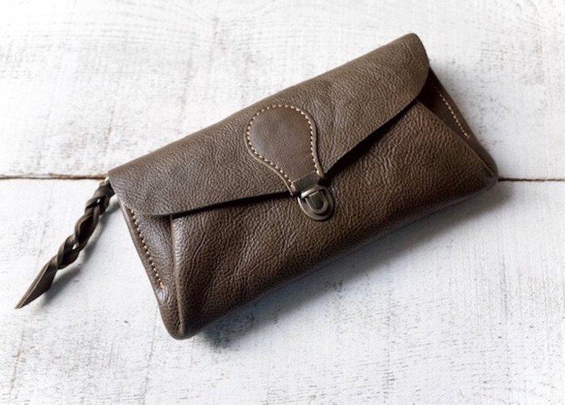 【受注製作(納期約2週間)】長財布 「series-envelope」カーキ