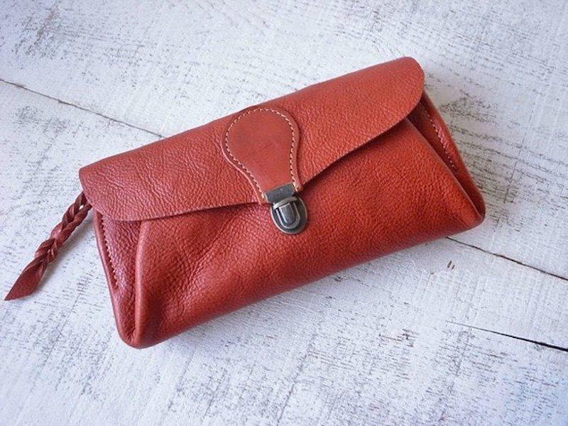 【受注製作(納期約2週間)】長財布 「series-envelope」テラコッタ