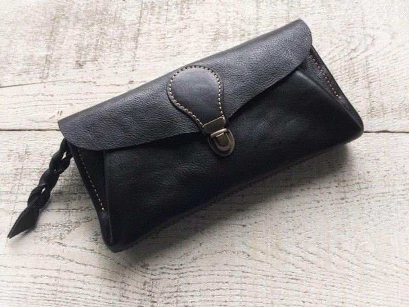 【受注製作(納期約2週間)】長財布 「series-envelope」ブラック