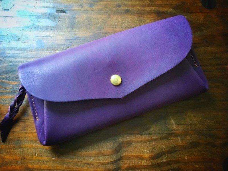 【受注製作(納期約1ヶ月半)】イタリアンレザー*カード 12枚長財布 「series-envelope」viola