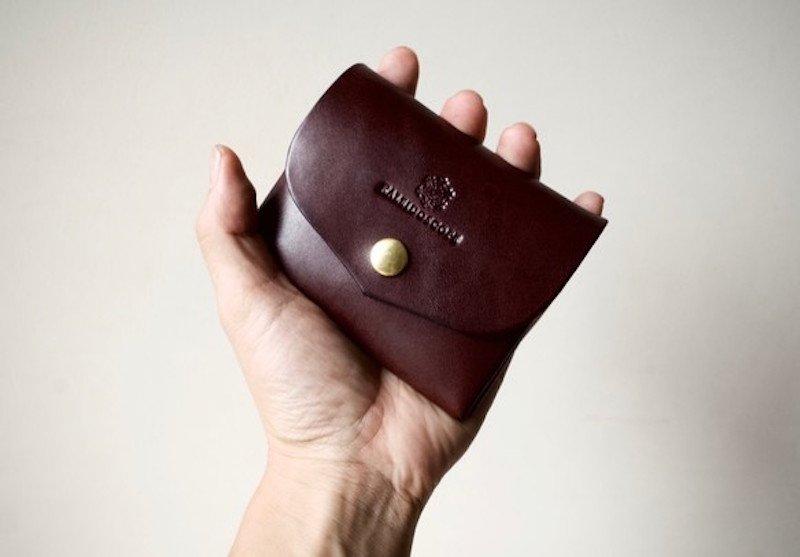 【納期約1週間】栃木レザー*コンパクト財布「series-envelope」ビターブラウン