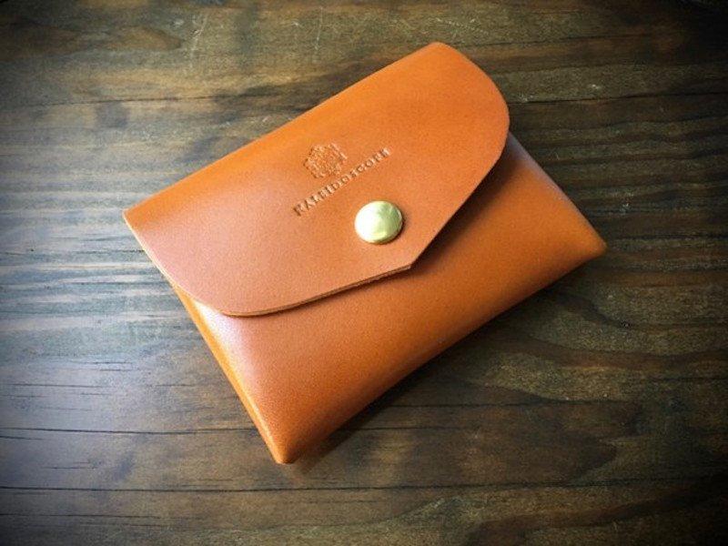 【納期約2週間】栃木レザー*コンパクト財布「series-envelope」キャメル