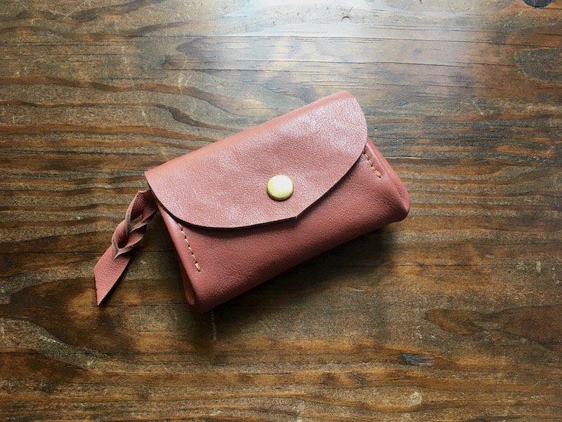 【納期約2週間】お札を折らない!ミニマル財布「envelope」(シナモン)