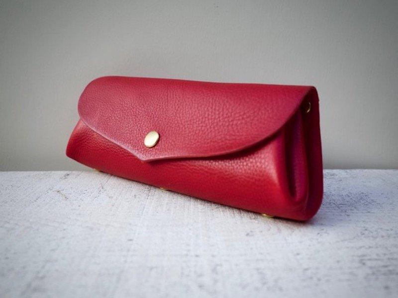 【受注製作(納期約2週間)】イタリアンレザー*コロコロ長財布 「fave」L(スカーレット)