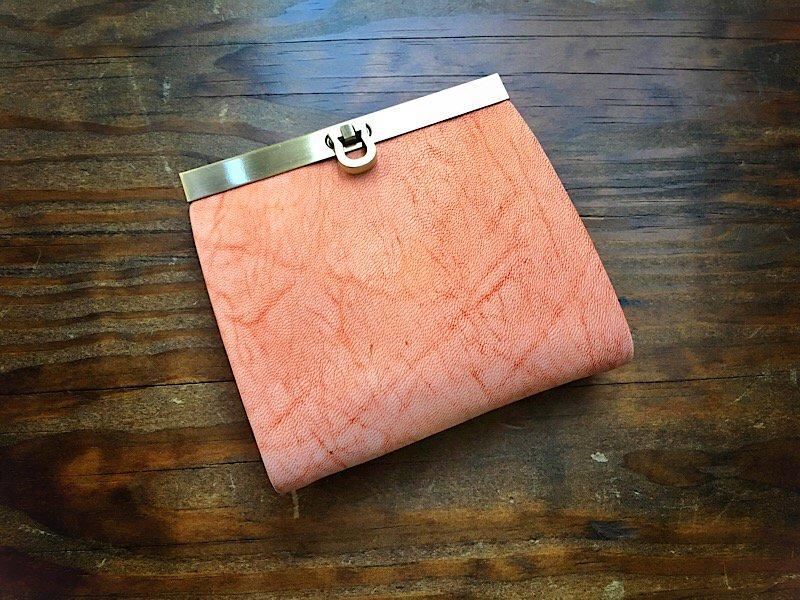 【数量限定】【受注製作(納期約1ヶ月)】二つ折り財布『avanico-harf』フローズンオレンジ×レモンイエロー
