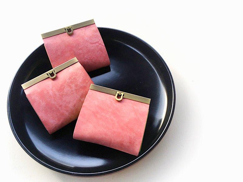 【4/15まで!期間限定販売】桜財布◆お札を折らない二つ折り財布『avanico-harf』(ペールピンク)