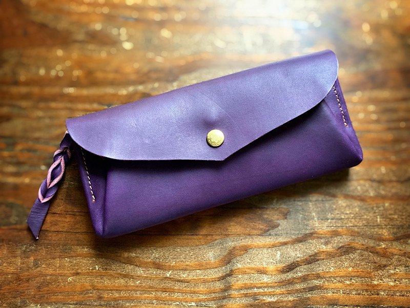 【受注製作(納期約2週間)】カード8枚長財布 「series-envelope」viola