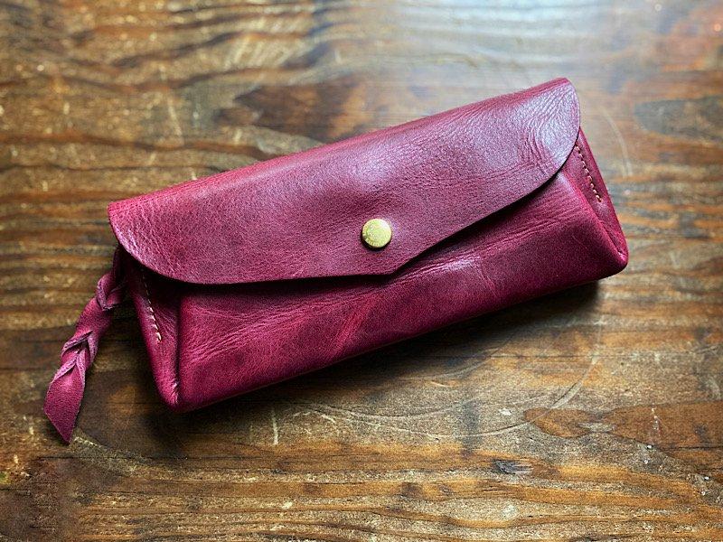 【受注製作(納期約2週間)】カード8枚長財布 「series-envelope」パープル