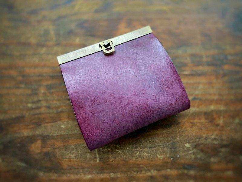 【受注製作(納期約1ヶ月)】純国産ヌメ革『ロロマ』使用◆二つ折り財布『avanico-harf』プルーニャ