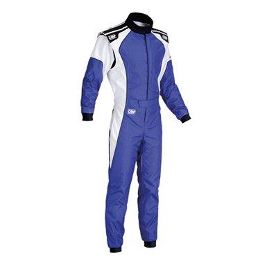 OMPカート&走行会レーシングスーツ(Kartsuits) ケイエススリー(KS-3) ブルー/ホワイト【CIK-FIA公認】