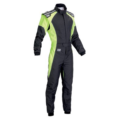 OMPカート&走行会レーシングスーツ(Kartsuits) ケイエススリー(KS-3)fluo ブラック/イエロー【CIK-FIA公…